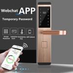 Quality Anti theft Intelligent Door Lock , Apartment App / Password / Card Induction Lock wholesale