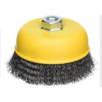 Buy cheap Yellow Color Cup Wire Brush Crimped , Grinder Wire Cup Brush For Angle Grinder from wholesalers