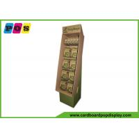 Quality Retail Corrugated Cardboard Peg Display Stand with printing on kraft paperboard HD051 wholesale