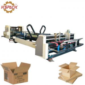 China AFG 2400 Paper Box Folder Gluer Machine For Automatic Cardboard White Color on sale