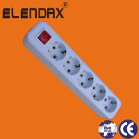 Buy cheap Elendax Germany type White colour ABS 5 ways extension sockets from wholesalers