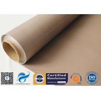 Quality 0.16MM Brown PTFE Coated Fiberglass Fabric Non Stick PTFE  BBQ Grill Mat Materials wholesale