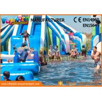 Quality Funworld Large Inflatable Water Slide With Swimming Pool Pvc Tarpaulin wholesale
