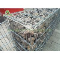 China 2X1X0.5m Wire Gabion Basket Stone / Wire Cages For Rock Retaining Walls on sale