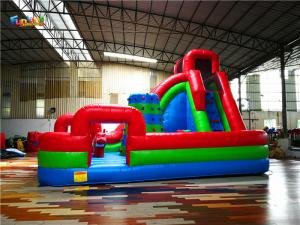 China All In On Backyard 120V Inflatable Slide With Climbing Wall on sale