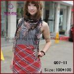 Quality Tassel Fashion Multi-Color Square Scarf (Q07-11) wholesale