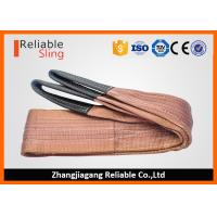 Quality 6000 KG Polyester Webbing Lifting Slings Safety Factor 7-1 With Reinforced Loop Ends wholesale