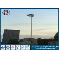 Insert Mode Connection Round Flood Light Poles Hot Dip Galvanized with  HPS