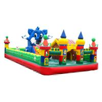 Quality 10-15 Children Play Inflatable Jumpers 0.55mm Tarpaulin Sewing Castle Bounce House wholesale