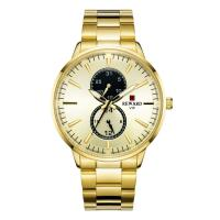 China PVD Coating Color Mens Stainless Steel Chronograph Watches , Metal Mens Watches on sale