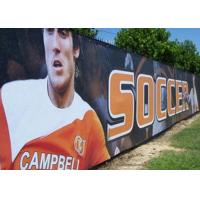 Quality Anti Rusted Construction Fence Banners Backdrop 4 Sewing Lines Vivid Image wholesale