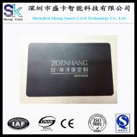 Quality Stainless Steel Black Matt Metal Business Card wholesale