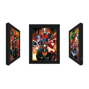 Quality Outdoor LED 3D Lenticular Pictures With Marvel Movie Character wholesale