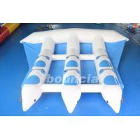 Blue Inflatable Banana Boat Towable Inflatable Flying Fish Tube For Sea