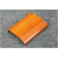Quality Powder Coating / Anodized 6063 6061 Aluminum Railing Profiles With Imitation Wood Grain wholesale