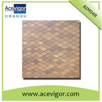 Cheap Wood mosaic wall tiles with rhombic shape for sale