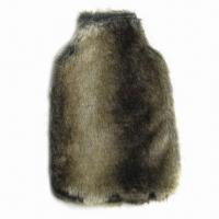 China Rubber Hot Water Bottle Cover, Made of Faux Fur on sale