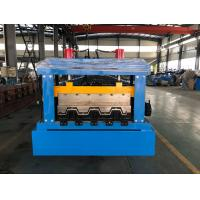 Quality 0.8 - 1.2mm Thickness floor decking forming machine Chain Drive wholesale