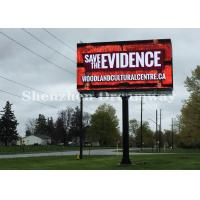 Quality P10 Outdoor Advertising LED Billboard , LED Video Display IP65 With Steel Cabinet wholesale