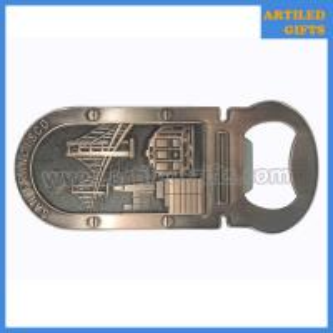 China Antique style San francisco city tourist metal bottle opener fridge magnet on sale