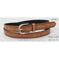 Quality Nickel Satin Buckle Women'S Belts For Jeans , Embossed Patterns Womens Stretch Belts wholesale