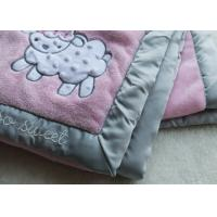 Breathable Swaddle Blankets , Sheep Pattern Blanket For Newborn Baby