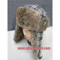 China NEW RUSSIAN FAUX SUEDE TRAPPER HAT WITH FUR TRIM winter fur hat on sale