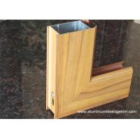 Quality Aluminium Side - hinged Door Extrusion Profile Wood Grain Effect wholesale