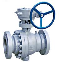 Full Port Trunnion Mounted Ball Valve Forged Steel Anti Static Device ISO 5211 Direct Mounting Pad