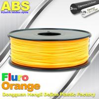 Quality Eco Friendly ABS 3D Printer Filament 1.75mm Fluro Orange 3D Printing Filament wholesale