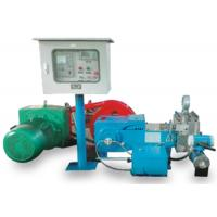 China Electric Motor Driven Grout Pump , Triplex Horizontal Single Acting Plunger Pump on sale