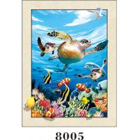 Quality Stunning Sea World Animals Painting 5D Pictures / Lenticular Photo Printing wholesale