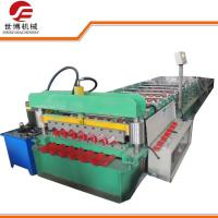 Quality Color Coated Corrugated Sheet Roll Forming Machine , Metal Roofing Roll Former wholesale