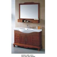 Quality Soft closer Traditional Bathroom Vanities wooden 5mm silvered float mirror wholesale