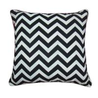 Black And White Square Home Decorative Pillows For Sofa / Chair - 95583005