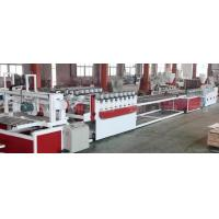 Quality Wood Plastic Composite Production Line / WPC Board Sheet Profile Extruder Machinery wholesale