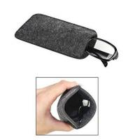 Quality Dark Grey Ladies Soft Sunglass Case With A Plush Styrene Interior wholesale