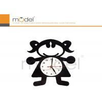 Quality Kindergarten Decrative Wall Clock Sticker , Removable Childrens Wall Stickers wholesale
