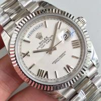 Buy cheap Wholesale 2016 Rolex Day-Date 228239 40mm Automatic 3255 White Dial Roma Marks Fluted Bezel Watch from wholesalers