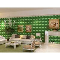 Cheap Luxury Living Room 3D Wall Coverings / Wall Art 3D Wall Panels with Plant Fiber 500*500 mm for sale