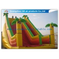 China Rainbow Inflatable Water Slide Bounce House Water Slide Pool For Kids Funny Game on sale
