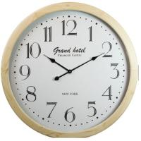 China Simple Square Wooden Living Room Conference Room Digital Wall Clock on sale