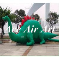 Quality giant 3m long attractive green inflatable dinosaur model for advertising in party,event wholesale