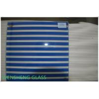 Quality Toughened Tempered Silk Screen Glass with Rough / Polish Edge 4-15mm wholesale