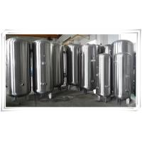 Quality Stainless Steel Air Compressor Receiver Tank 60 Gallon / 80 Gallon / 100 Gallon wholesale