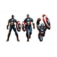 Quality Captain American 3D Lenticular Poster Printing / Custom Lenticular Posters wholesale