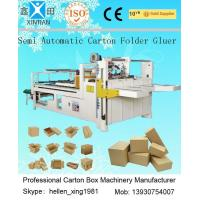 Quality 4kw Electric Control Carton Making Machine Compose Of Main Form And Two Small Conveyer wholesale