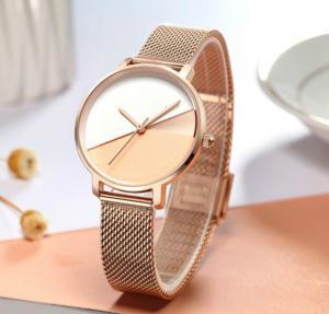 Quality fashion alloy analog custom logo luxury rose gold for wrist women oem watch manufacturers rose gold watch women wholesale