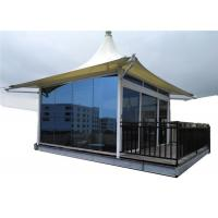 Quality Laminated Glass Luxury Resort Tents Sound Insulation Wall Steel Structure wholesale