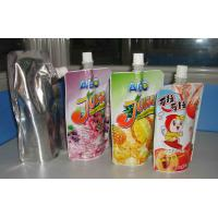 China Standup Juice / Sauce / Water Spout Pouch for Kids , Food Spouted Bag for Liquid Packing on sale